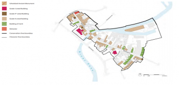Figure 1: Map displaying the Fossgate and Walmgate Historic Conservation Area (York City Council 2011, 320)