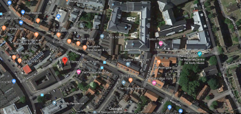 Figure 2: Google maps depicting the location of St. Denys Church as of late 2019 (Google Maps, n.d.)