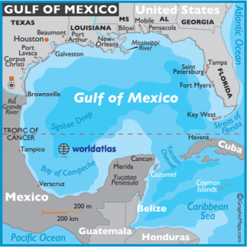 Fig. 4; Map of the Gulf of Mexico (Jemison 2020).