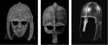 Figures 4, 5 and 6: Listed from right to left: The Sutton Hoo Helmet, Vendel Helmet, and Coppergate Helmet. (© Trustees of the British Museum; Swedish History Museum, accessed online: 10.03.2020; York Museums Trust, accessed online: 10.03.2020).
