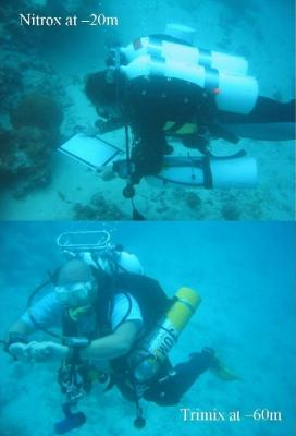 Figure 2 - Divers looking for archaeological deposits (Image Copyright - Geoff Bailey)