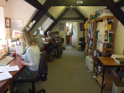 Figure 1 - Jo and Madeleine hard at work on the next issue of Antiquity. (Image Copyright - Mark Simpson)