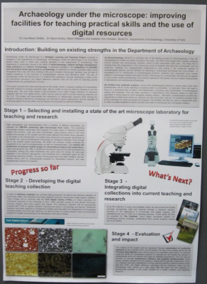 Figure 5: Poster presentation at the York Learning and Teaching Conference 2013 (Photograph of author's poster reproduced with kind permission of Steve Ashby)