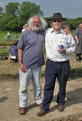 Mick Aston and Tim Taylor, the inventors of Time Team (Reproduced with kind permission of Guy de la Bedoyère)