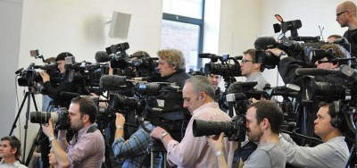 Some of the media coverage of the press conference (Reproduced with kind permission of Colin Brooks, University of Leicester)