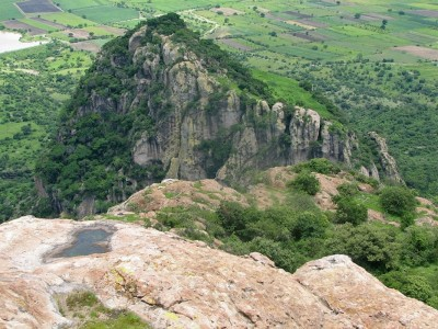 Figure 1. Cerro Delgado as seen from the summit of Cerro Chalcatzingo (image copyright: Arnaud F. Lambert).