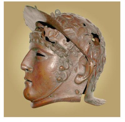 Figure 3. Ribchester Roman Parade Helmet found in 1796 as part of a hoard (Image copyright: Ribchester Roman Museum).