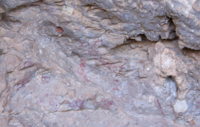Figure 2. The Area A rock paintings from the South Grotto of Oxtotitlán Cave, Guerrero, Mexico (Image copyright: Arnaud F. Lambert).
