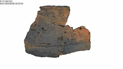 Fig.2 Pot composed of 3 large fragments, with decoration (Author's own copy).