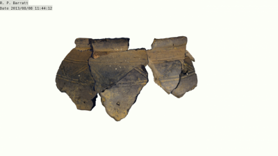 Fig.3  Larger pot, with decoration. Nine fragments in total (Author's own copy).