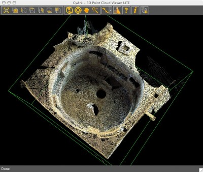 Cyark point cloud of Kiva H, Spruce Tree House, Mesa Verde National Park, Colorado, USA. credit: Cyark