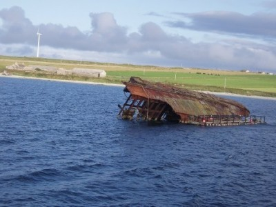 Figure 4: showing the view from the Churchill Barriers of Scapa flow (credit: author)